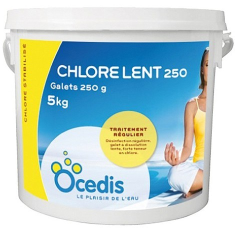 Chlore lent - 250g - 1x5 kg de Ocedis - Produits chimiques