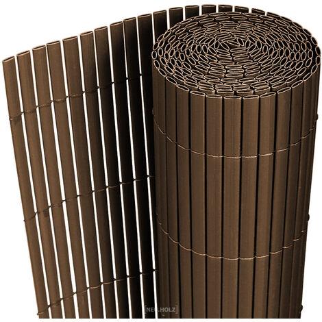 Estera de PVC (200x300cm) (marrón) protector contra el viento - pantalla de privacidad, para jardín, balcón y terraza