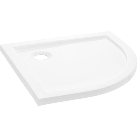 Plato de ducha - media semiesfera / cuarto de círculo - 100x100x4cm (blanco puro)