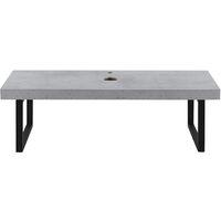Encimera de Lavabo - 100 x 45 x 30 cm - Toallero - Estante de Baño - Tablero de Pared para Lavabo con Soporte de Metal - Mueble de Baño - Efecto hormigón