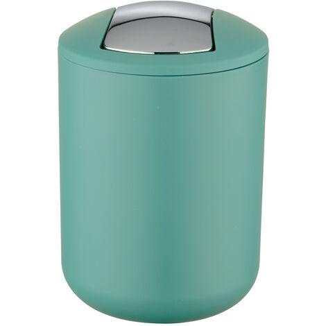 WENKO Müll Eimer Brasil 2 L grün Schwingdeckel Kosmetik Abfall Bad WC Küchen