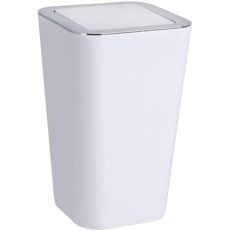WENKO Müll Eimer Candy white 6 L Schwingdeckel Abfall Kosmetik Bad WC Küche