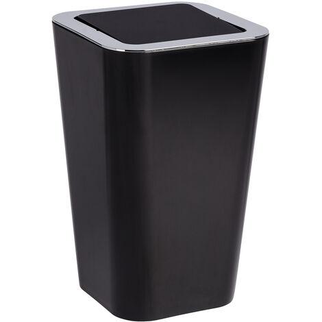 WENKO Bad Kosmetik Eimer Candy black 6 L Schwingdeckel Müll Abfall WC Küchen