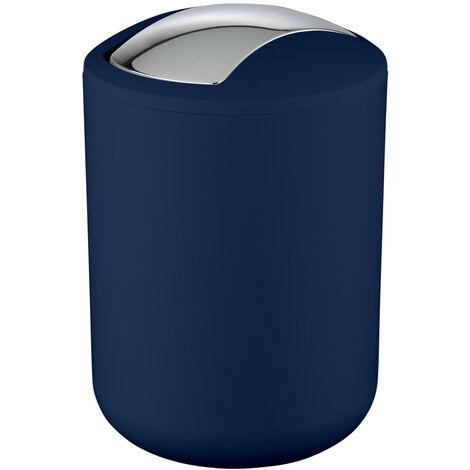 WENKO Kosmetik Eimer Brasil dunkel blau 2 L Schwingdeckel Müll Abfall Bad Küchen