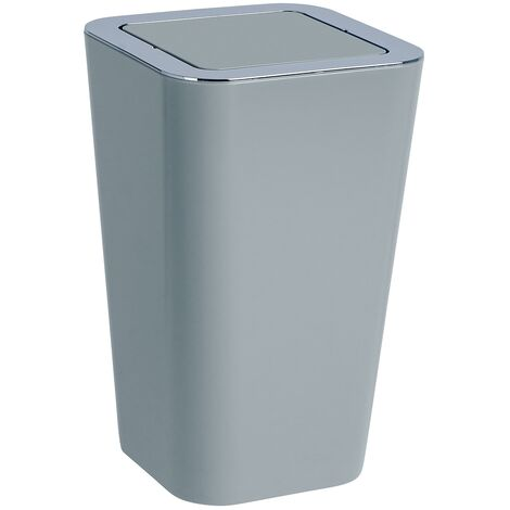 WENKO Abfall Eimer Candy grey 6 L Schwingdeckel Müll Kosmetik Bad Gäste-WC Küche