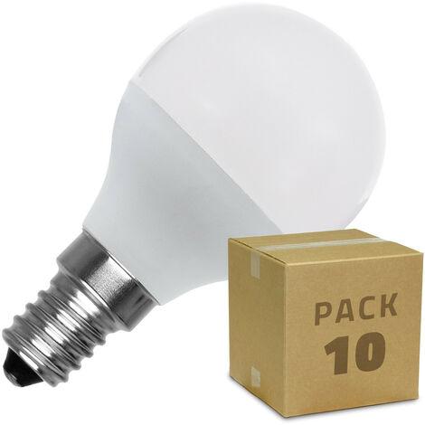 Pack Bombillas LED E14 Casquillo Fino G45 5W (10 un) Blanco Cálido 2800K - 3200K - Blanco Cálido 2800K - 3200K