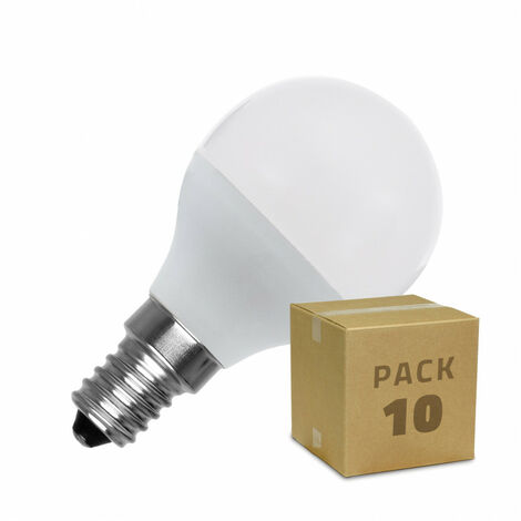Pack Bombillas LED E14 Casquillo Fino G45 5W (10 un) Blanco Frío 6000K - 6500K - Blanco Frío 6000K - 6500K