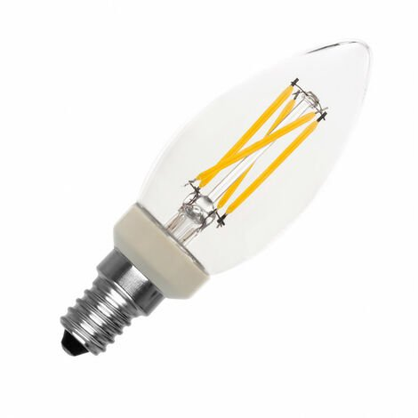 Bombilla LED E14 Casquillo Fino C35 Regulable Filamento Candle 3.5W Blanco Cálido 2700K - Blanco Cálido 2700K