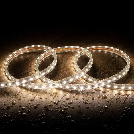 Tira LED Regulable 220V AC 60 LED/m Blanco Neutro IP65 a Medida Corte cada 100cm  1m  -  1m