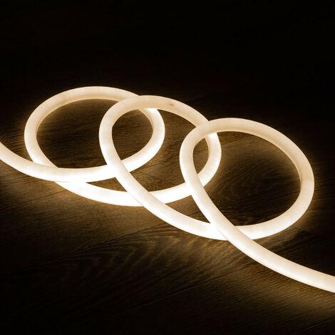 Tira Neón LED Regulable 220V AC 120 LED/m Circular 360 Blanco Neutro IP67 a Medida Corte cada 100 cm 1m -  1m