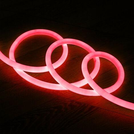 Tira Neón LED Regulable 220V AC 120 LED/m Circular 360 Rojo IP67 a Medida  1m  -  1m