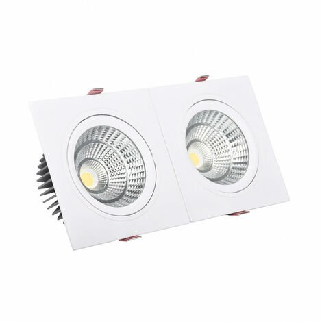 Foco Downlight LED 30W Rectangular Doble New Madison Corte 260x120 mm Blanco Cálido 3000K - 3200K - Blanco Cálido 3000K - 3200K