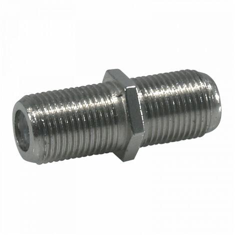 Adaptador Hembra-Hembra TELEVES Tipo F Cable Coaxial  Cromado  -  Cromado