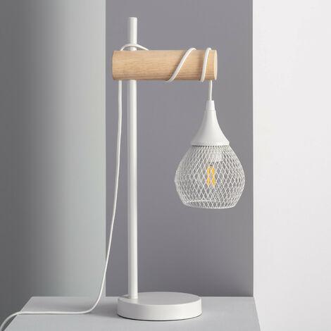 Lámpara de Mesa Monah  Blanco  -  Blanco