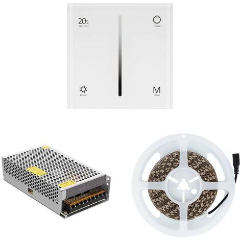 Tira LED Monocolor con Mecanismo Regulador Táctil y Alimentación Blanco Cálido 2800K - 3200K   - Blanco Cálido 2800K - 3200K