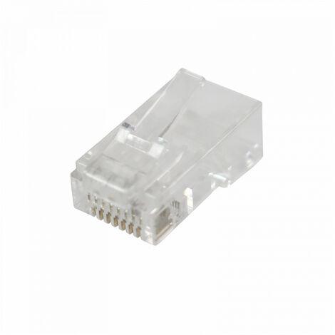 Conector RJ45 Macho TELEVES UTP Cat-6 Transparente -  Transparente