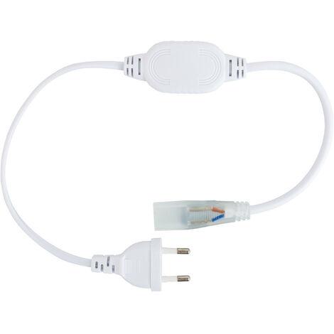 Cable Rectificador Corriente IP65 Tira LED 220V AC Corte cada 100cm