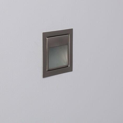 Baliza LED Larry Acabado Acero 1.5W Blanco Frío 6000K   - Blanco Frío 6000K