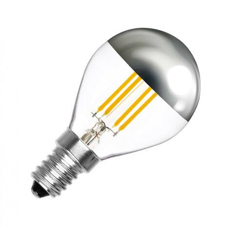 Bombilla LED E14 Casquillo Fino Regulable Filamento Reflect G45 3.5W