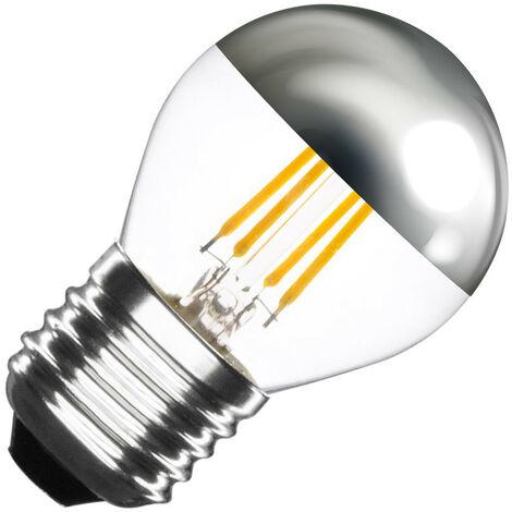 Bombilla LED E27 Casquillo Gordo Regulable Filamento Chrome Reflect Small Classic G45 3.5W Blanco Cálido 2000K - 2500K   - Blanco Cálido 2000K - 2500K