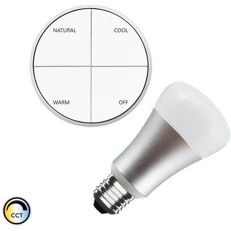 Kit Pulsador Wireless CCT Seleccionable + Bombilla LED 8W