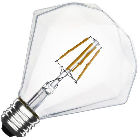 Bombilla LED E27 Casquillo Gordo Regulable Filamento Diamond G105 3.5W Blanco Cálido 2000K - 2500K   - Blanco Cálido 2000K - 2500K