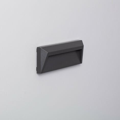 Baliza LED de Superficie Chester IP65 1.5W Gris Blanco Frío 6000K . - Blanc Froid 6000K