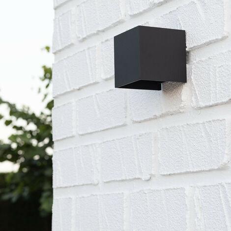 Aplique LED Eros 6W Negro Iluminación Doble Cara Aluminio Blanco Cálido 2800K - 3200K - Blanco Cálido 2800K - 3200K