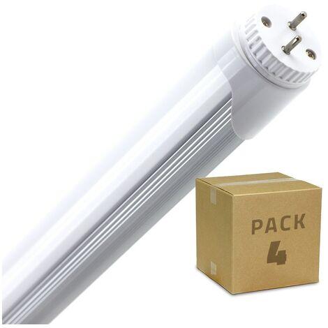 Pack Tubo LED T8 1200mm Conexión un Lateral 18W (4 un) Blanco Frío 6000K - 6500K . - Blanco Frío 6000K - 6500K
