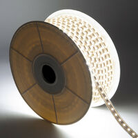 Tira LED Regulable 220V AC 60 LED/m Blanco Cálido IP65 a Medida Corte cada 100 cm 1m -  1m