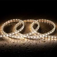 Tira LED Regulable 220V AC 60 LED/m Blanco Neutro IP65 a Medida Corte cada 100 cm 1m -  1m