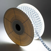 Tira LED Regulable 220V AC 60 LED/m Blanco Frío IP65 a Medida Corte cada 100 cm 1m -  1m