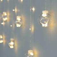 Cortina Bolas Colgantes LED 3.6W 2.5m Blanco Cálido 2700K - 3200K - Blanco Cálido 2700K - 3200K