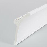Moldura Zócalo para Tira LED 2m Design Blanco -  Blanco