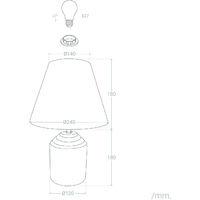 Lámpara de Mesa Gusau Madera -  Madera