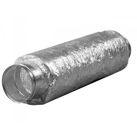 Gaine ventilation - Silencieux souple 125x500mm + Flange métal
