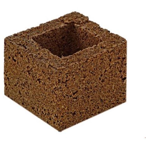 Cube de tourbe coco - 7.5 x 7.5 x 6 cm - Eazy Block