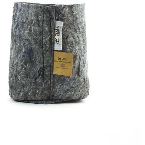 pot textile Root Pouch Grey 3.8L 15x19cm - Gris