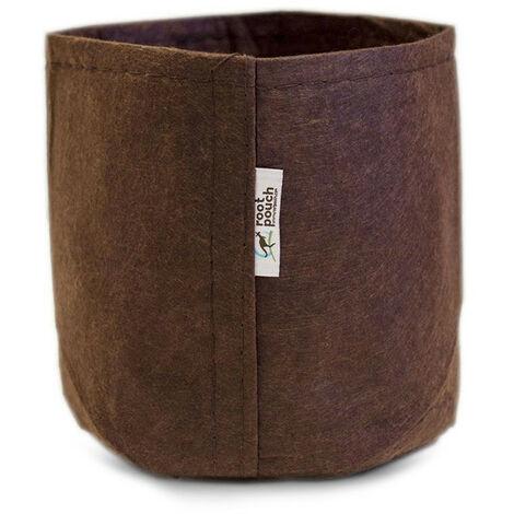 pot textile tissu Root Pouch 8L 21x21cm - Marron