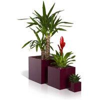 Pot de fleurs - Cubico - Noir brillant - 14x14x14cm - Flower Lover