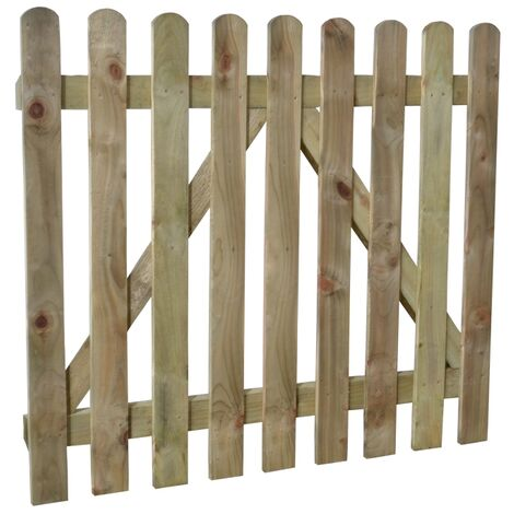 "Forest Heavy Duty 3'3"" x 3' Pressure Treated Wooden Picket Garden Gate (1m x 0.9m)"