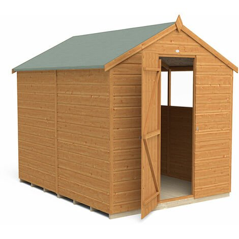 8' x 6' Forest Delamere Shiplap Dip Treated Apex Wooden Shed