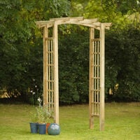 Forest Ryeford Wooden Garden Arch 7'x4'