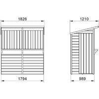 6' x 3' Forest Wooden Garden Bar (1.79m x 0.99m)