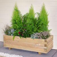 Forest Agen Wooden Garden Planter 3'x1' (0.9x0.3m)
