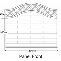 "Forest 5'11"" x 4'11"" Europa Prague Pressure Treated Decorative Fence Panel - (1.8m x 1.5m)"