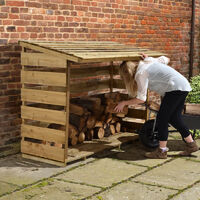 6' x 2' Forest Large Log Store (1.76x0.64m)