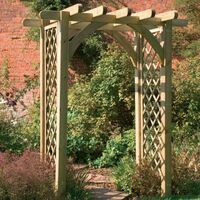 6' x 4'6 Forest Premium Garden Pergola Arch (1.82x1.36m)