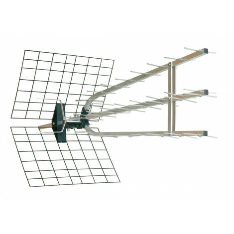 Antenne d'extérieur trinappe amplifiée 40 dB à fiche F