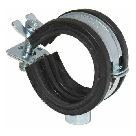 Rohrschelle 25-28mm 3/4'' einteilig Schelle verzinkt mit Schallschutzeinlage m. Automatic M8 3413028